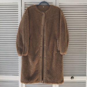Uniqlo pile lined fleece jacket